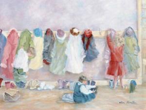 The School Cloakroom by H?l?ne L?veill?e