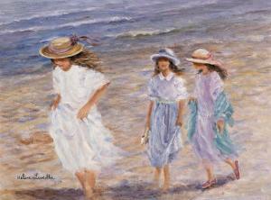 Walk at the Sea by H?l?ne L?veill?e