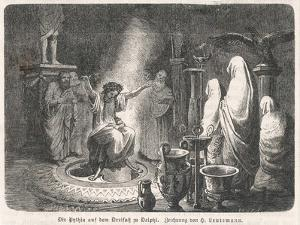 The Oracle of Delphi Entranced by H. Leutemann