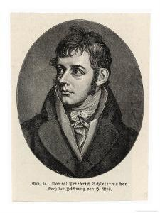 Friedrich Ernst Daniel Schleiermacher German Philologist and Protestant Philosopher by H. Lips