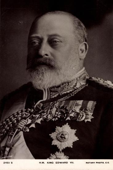 H.M. King Edward VII, Decorations, Medallions--Giclee Print