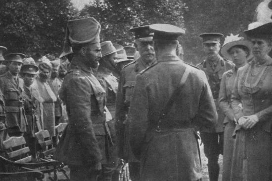 'H.M. King George V Talking To Sir Walter Lawrence and Mir Dast, V.C., 25th August 1915', (1939)-Unknown-Photographic Print