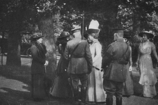 'H.M. Queen Mary after the Investiture of the 25th August 1915', (1939)-Unknown-Photographic Print