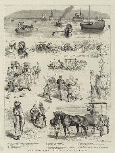 H M S Agamemnon in Colombo Harbour, Ceylon--Giclee Print