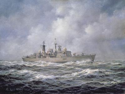 H.M.S. Exeter, Type 42 (Batch 2) Destroyer, 1990-Richard Willis-Giclee Print