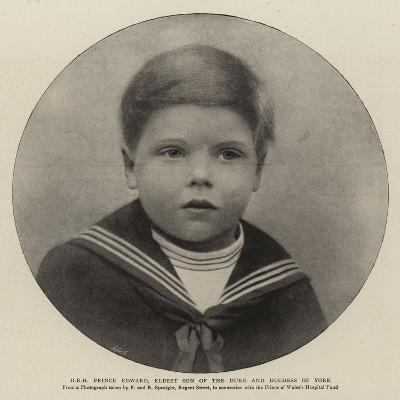 H R H Prince Edward, Eldest Son of the Duke and Duchess of York--Giclee Print