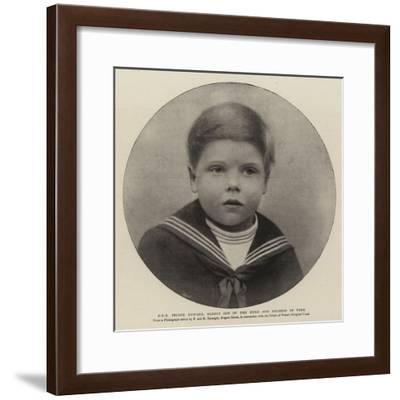 H R H Prince Edward, Eldest Son of the Duke and Duchess of York--Framed Giclee Print
