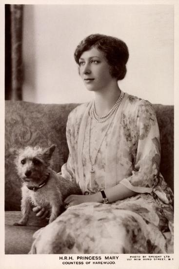 H.R.H. Princess Mary, Countess of Harewood, Terrier, Tuck--Giclee Print