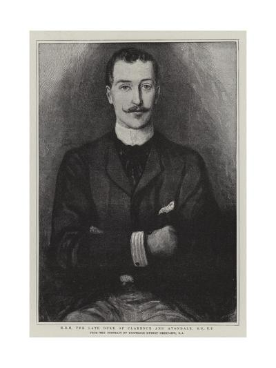 H R H the Late Duke of Clarence and Avondale-Hubert von Herkomer-Giclee Print