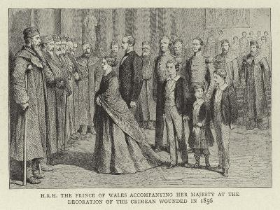 H R H the Prince of Wales Accompanying Her Majesty at the Decoration of the Crimean Wounded in 1856--Giclee Print