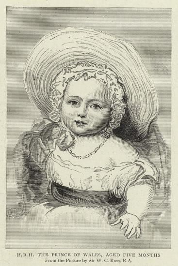 H R H the Prince of Wales, Aged Five Months-William Charles Ross-Giclee Print