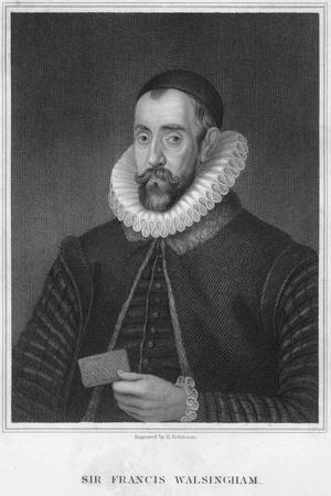 Sir Francis Walsingham, Secretary of State to Elizabeth I, Late 16th Century