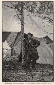 Ulysses S Grant American Civil War General at Headquarters During the Virginia Campaign by H. Vetten