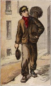 Young Chimney Sweep by H.w. Petherick