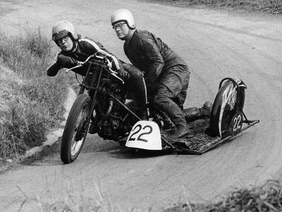 H Wilderspin Taking Part in the Gurston Hill Climb, on a 1936 Matchless Bike, 1971--Photographic Print