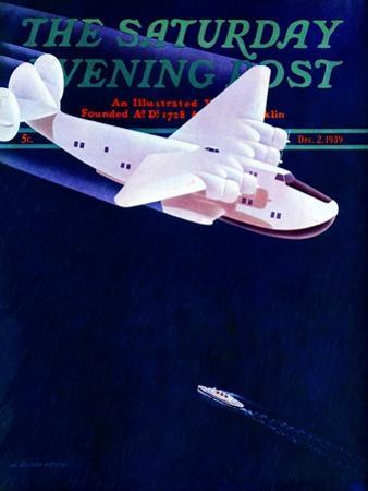 """Propeller Plane,"" Saturday Evening Post Cover, December 2, 1939"