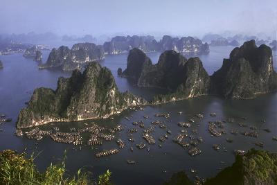 Ha Long Bay Vietnam viewed from above-Charles Bowman-Photographic Print