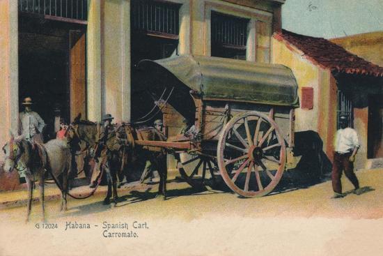 'Habana - Spanish Cart. Carromato', c1907-Unknown-Giclee Print