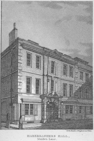 Haberdashers' Hall, City of London, 1811-William Angus-Giclee Print