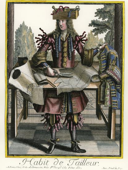 Habit De Tailleur Fantasy Costume Of A Men S Tailor With Attributes Of His Trade Giclee Print By Nicolas Ii De Larmessin Art Com
