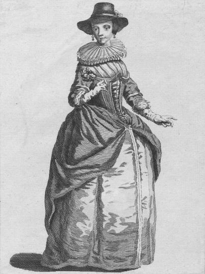'Habit of the Lady Mayoress of London in 1640', 1776-Unknown-Giclee Print