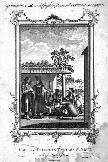'Habits of Dagestan Tartars of Tarcu, on the borders of Persia', 1780-NC Goodnight-Giclee Print