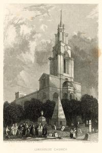 Limehouse Church; St Anne's Church, Limehouse, London by Hablot Knight Browne