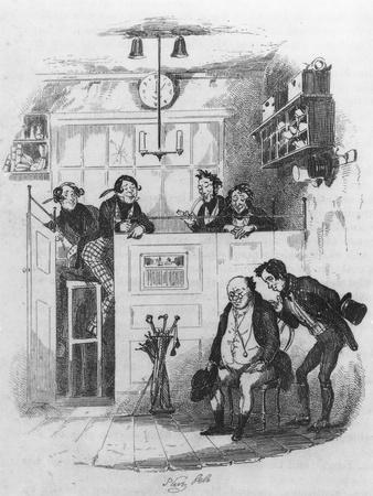 Mr. Pickwick and Sam in the Attorney's Office, Illustration from 'The Pickwick Papers'