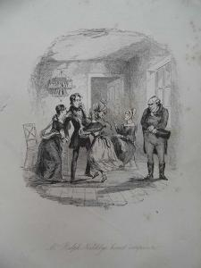 Mr Ralph Nickleby's Honest Composure, 1838 by Hablot Knight Browne