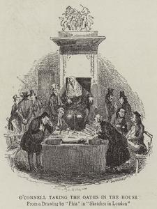 O'Connell Taking the Oaths in the House by Hablot Knight Browne