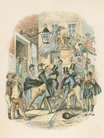 Scene from Nicholas Nickelby by Charles Dickens, 1838-1839