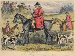 Simon Heavy - Side and His Hounds, 1865 by Hablot Knight Browne