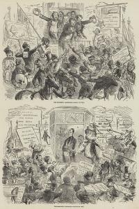 The Election of 1852 by Hablot Knight Browne
