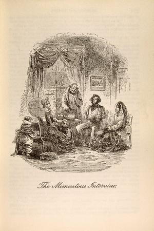 'The Momentous Interview', from 'David Copperfield' by Charles Dickens (1812-70)