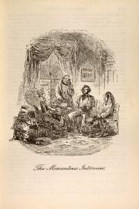 'The Momentous Interview', from 'David Copperfield' by Charles Dickens (1812-70) by Hablot Knight Browne