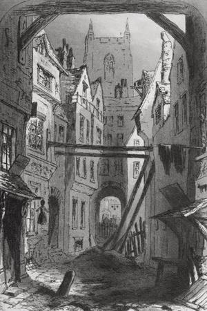 Tom All Alone's, Illustration from 'Bleak House' by Charles Dickens (1812-70) Published 1853