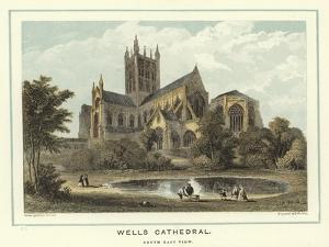 Wells Cathedral, South East View by Hablot Knight Browne