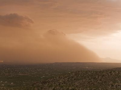 Haboob, Like a Dust Storm, Engulfing the Entire City of Tucson-Mike Theiss-Photographic Print