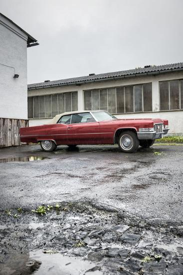 Hachenburg, Hesse, Germany, Cadillac Deville Convertible, 1969 Model, Cubic Capacity 7.0 L-Bernd Wittelsbach-Photographic Print