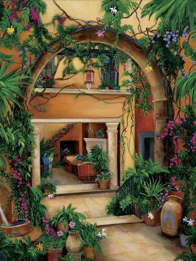 Hacienda Courtyard-Betty Lou-Giclee Print