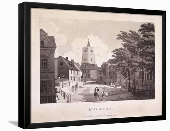 Hackney Brook, Hackney, London, 1791-William Ellis-Framed Stretched Canvas Print