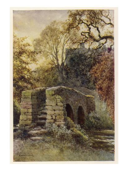 Haddon Hall, Derbyshire : Dorothy Vernon's Bridge--Giclee Print