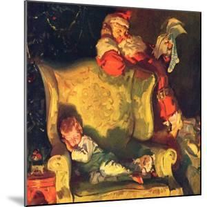 """Sleeping Through Santa's Visit,""December 1, 1928 by Haddon Sundblom"