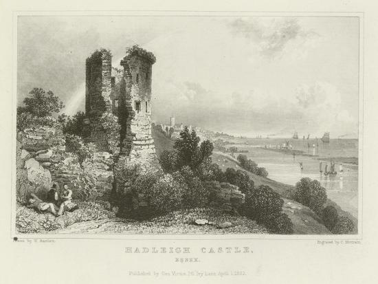 Hadleigh Castle, Essex-William Henry Bartlett-Giclee Print