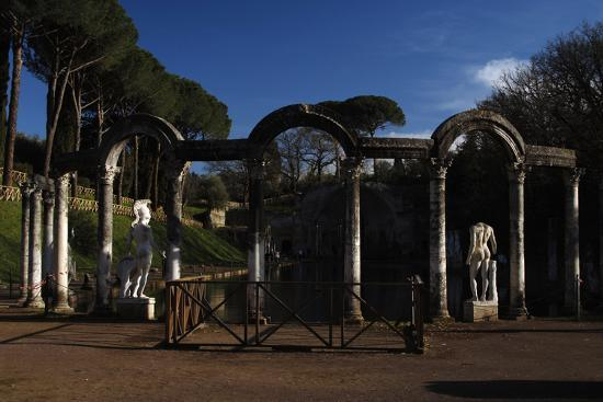 Hadrian's Villa. the Canopus with the Statue of God Mars. 2nd Century. Italy--Photographic Print