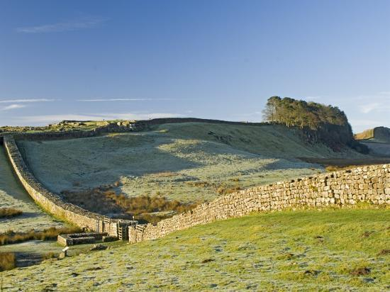 Hadrians Wall with Civilian Gate, a Unique Feature, and Housesteads Fort, Northumbria, England-James Emmerson-Photographic Print