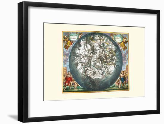 Haemisphaerium Stellatum-Andreas Cellarius-Framed Art Print