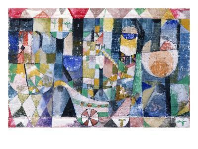 Hafenbild (Raddampfer), 1918 /142-Paul Klee-Giclee Print