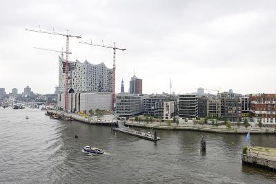 Hafencity-West, Elbphilharmonie, Construction Site, Aerial Shot, Hanseatic City of Hamburg, Germany-Axel Schmies-Photographic Print