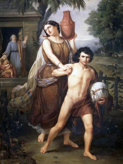 Hagar and Ishmael Sent Away from the House of Abraham, 1852-Jose Salome Pina-Giclee Print